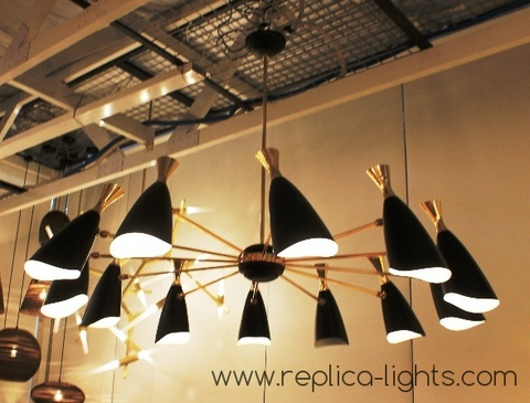 replica DUKE chandelier 12 LIGHTS by Delightfull ( black)