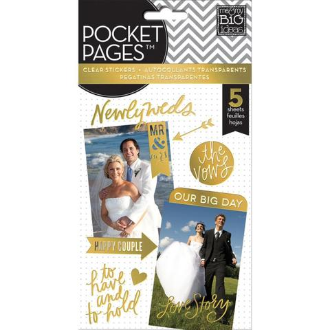 Стикеры ацетатные -на прозрачном пластике Me & My Big Ideas Pocket Pages Clear Stickers - Wedding Day