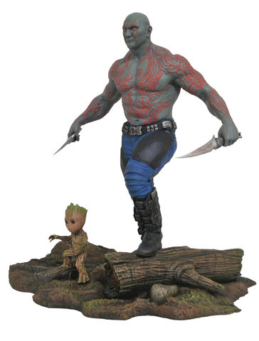 Марвел Галерея Стражи Галактики 2 фигурка Дракс и Грут — Marvel Gallery Guardians of the Galaxy 2 Drax and Groot