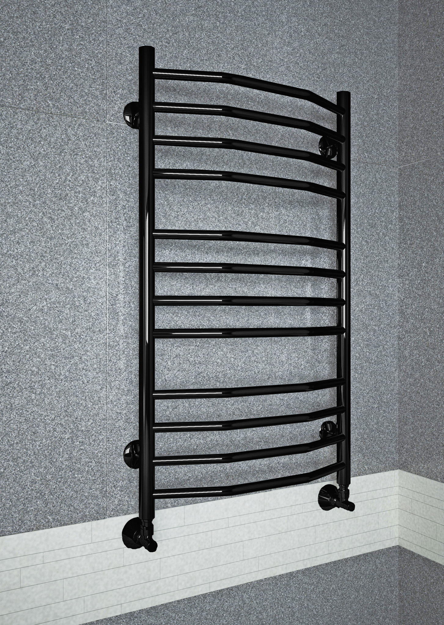 Victoria E - электрический полотенцесушитель черный