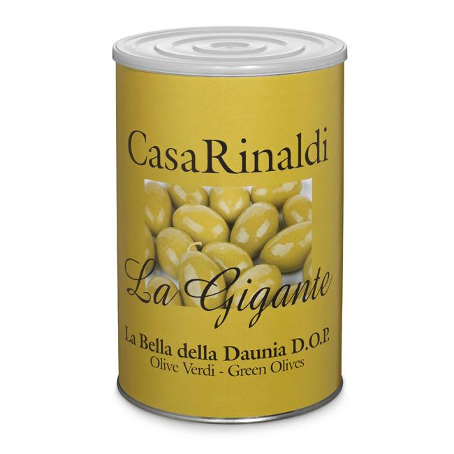Оливки Casa Rinaldi гигантские зеленые GGG 4250 г
