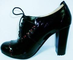 Женские черные демисезонные туфли.
