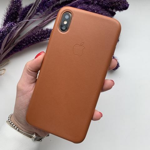 Чехол iPhone XS Max Leather Case /saddle brown/