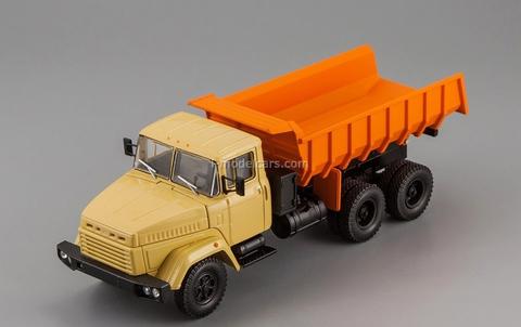 KRAZ-6510 dump truck 1985-1994 beige-orange 1:43 Nash Avtoprom