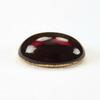 Кабошон овальный Чешское стекло, цвет - темно-красный, 14х10 мм