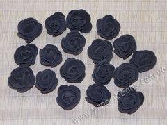 Роза из фоамирана черная диаметр 3-3,5 см