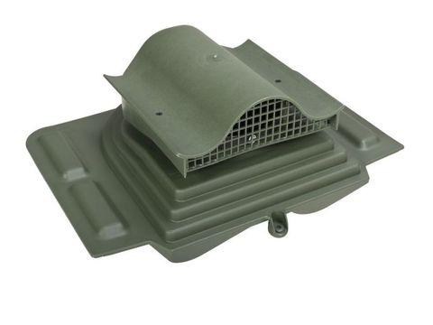 Кровельный вентиль Pelti KTV для труб 110-160мм RAL 6005 герметик, уплотнитель гидрозатвора входят в комплект