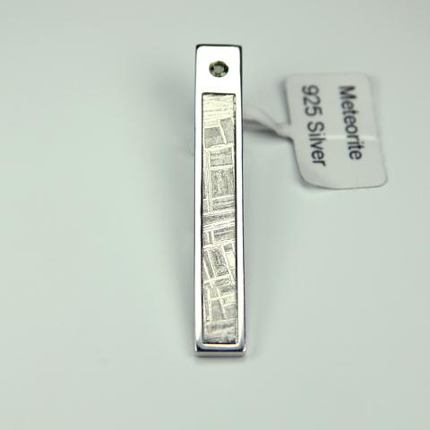Зажим для галстука, вставка метеорит Муонионалуста