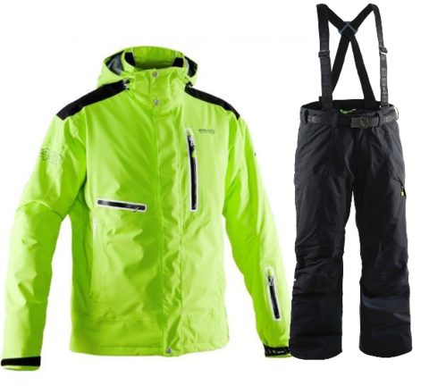 Мужской горнолыжный костюм 8848 Altitude Sason/Base 67 (lime/black)
