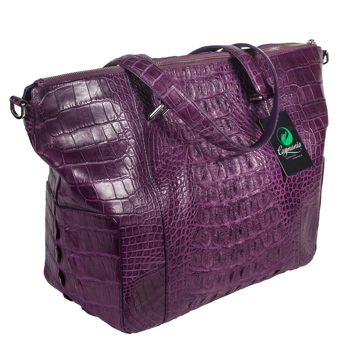 d80c4fa0b3a2 Женская сумка из кожи крокодила фиолетовая | Артикул: WHC7141VT