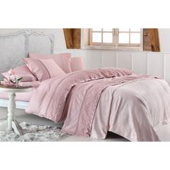Набор КПБ с покрывалом Gelin Home LYON (розовый) евро