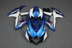 Комплект пластика для мотоцикла Suzuki GSX-R600/750 08-10 Сине-Белый