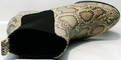 Женские осенние ботинки ботинки под рептилию Kluchini 13065 k465 Snake.