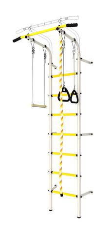 Шведская стенка аналог Next1 эконом (dsk с окрашенными ступенями) белый