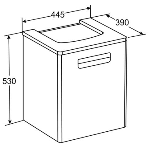 Мебель для ванной Roca The Gap 44x39см. белая ZRU9302735/327477000 схема