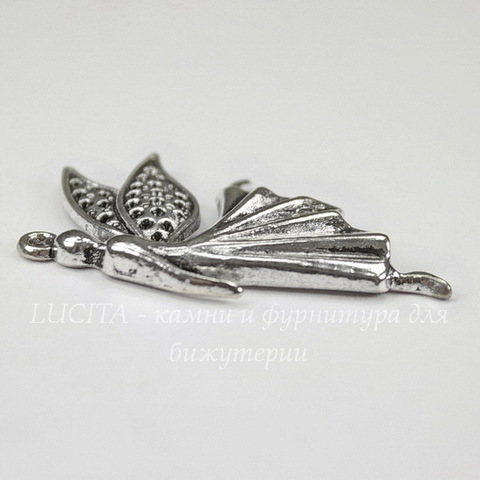 """Подвеска """"Эльф"""" (цвет - античное серебро) 40х24 мм"""