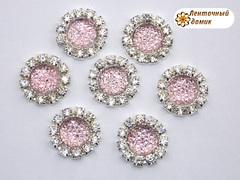 Пупырышки в стразовом обрамлении розовые
