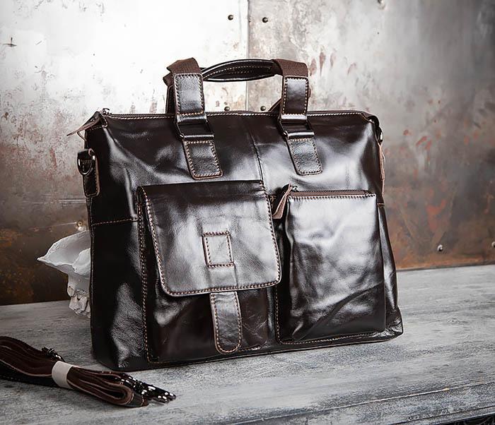 0f5e3ebc96cd BAG457-2 Мужская кожаная сумка портфель с ремнем на плечо (под А4)