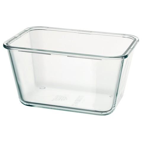 ИКЕА/365+ Контейнер для продуктов прямоугольн формы, стекло