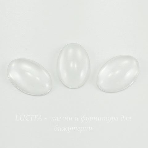 Кабошон овальный прозрачное стекло, 18х13 мм ()