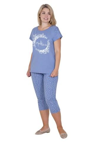 Пижама трикотажная с бриджами