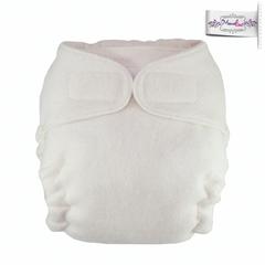 Подгузник из  хлопка для новорожденных на липучках  с вкладышем Mamalino Натуральный(3-8 кг)