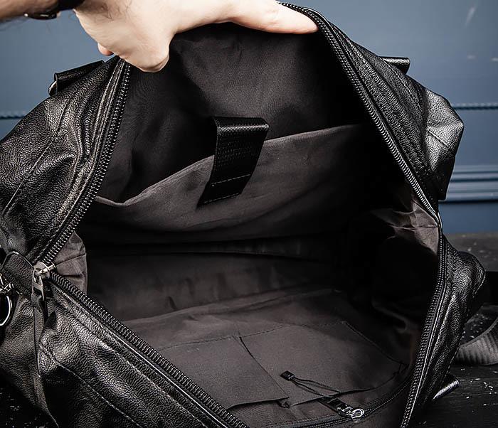 BAG546 Кожаная мужская сумка для поездок фото 12