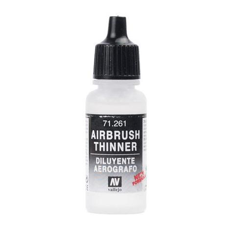 71261 Airbrush Thinner Разбавитель Красок для Аэрографа, 17 мл Acrylicos Vallejo