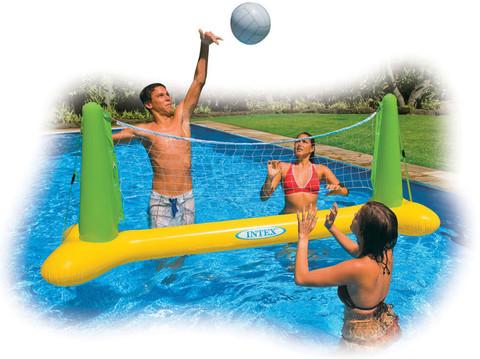 Ворота волейбольные Intex, надувные с мячом