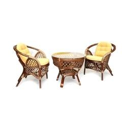 Кофейный комплект мебели из ротанга