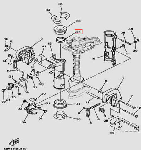 Хомут для лодочного мотора F5 Sea-PRO(16-37)