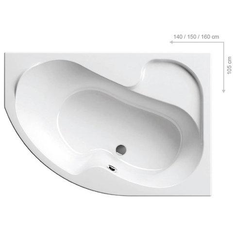 Акриловая ванна Ravak ROSA 140x105 P белая