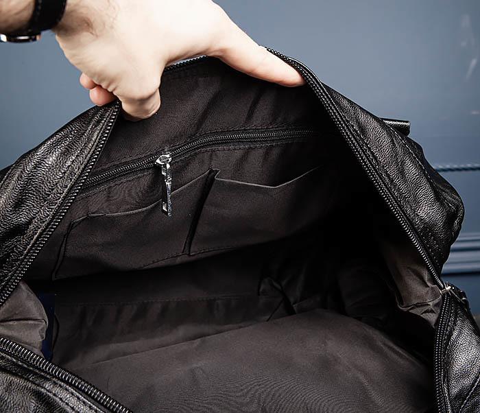 BAG546 Кожаная мужская сумка для поездок фото 14