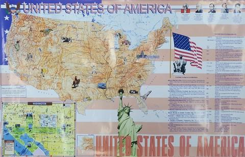 Плакат USA - United States of America - США