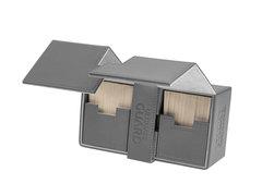 Ultimate Guard - Двойная кожаная серая коробочка с отделением для кубиков на 200 карт