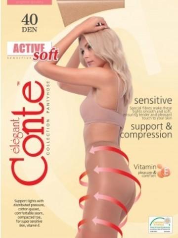 Conte Active Soft Колготки женские 40d, p.2 bronz