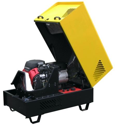 Бензиновый генератор G10HES в шумозащитном антивандальном всепогодном кожухе