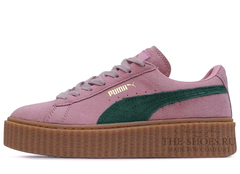 Кеды Женские Puma X Rihanna Creeper Light Pink Green Begie