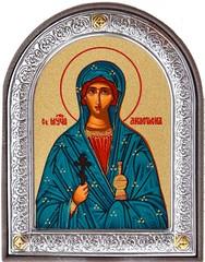 Анастасия мученица. Маленькая икона в серебряной раме.