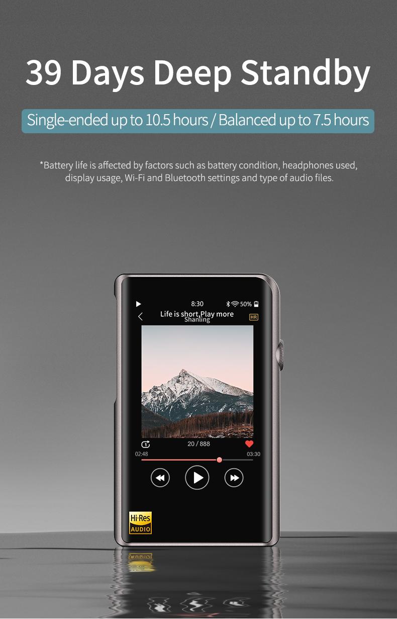 Shanling M2X titanium, портативный аудиоплеер