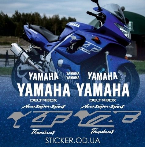 Набор виниловых наклеек на мотоцикл YAMAHA YZF 600R 2001, Thundercat