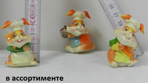 Магнит полистоун Кролик поваренок 290527