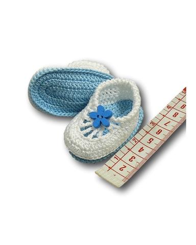 Вязаные туфли летние - Демонстрационный образец. Одежда для кукол, пупсов и мягких игрушек.