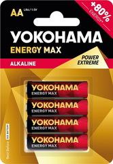 Батарейки Yokohama Energy Max LR6, AA (4/40/200) BL