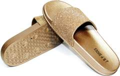 Летние шлепанцы недорого J.B.P. Shoes NU25 Gold.