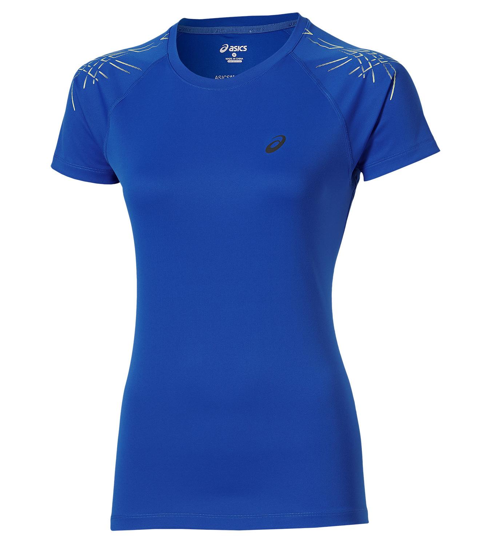 Женская беговая футболка Asics Stripe SS Top (126232 8091) фото