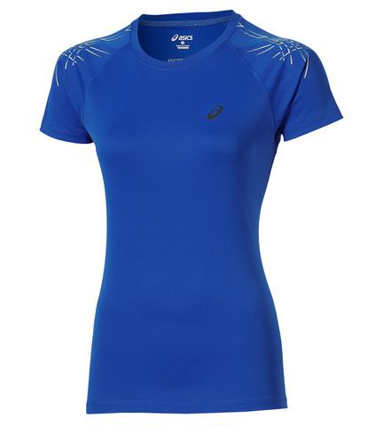 Asics Stripe SS Top Женская футболка для бега синяя