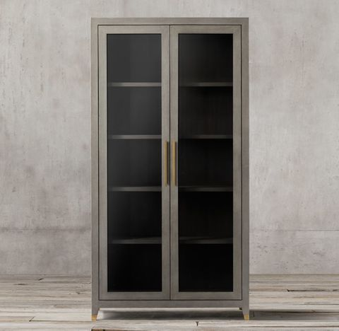 Graydon Shagreen Glass Double-Door Cabinet
