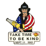 Значок Hard Rock Cafe - Take Time To Be Kind - FDNY Sept 11 2001
