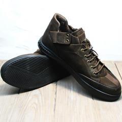 Стильные кроссовки туфли мужские осенние Luciano Bellini 71748 Brown